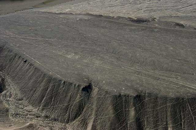 Flattened mountain